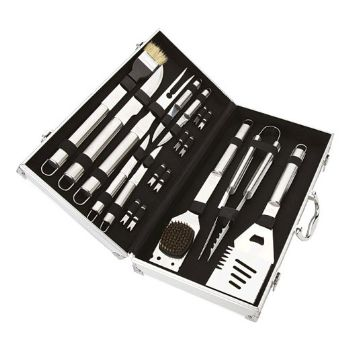Personalised 18 Piece Steel Braai Set